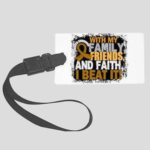 Appendix Cancer Survivor FamilyF Large Luggage Tag