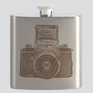 Vintage Camera - Dark Brown Flask