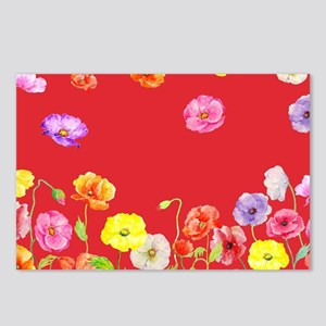 Watercolor Abstract Poppy Postcards (Package of 8)