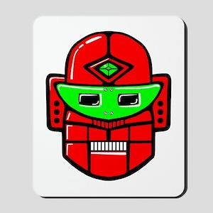 Retro Robot Head Mousepad