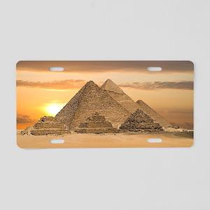 Egyptian Pyramids Aluminum License Plate