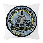 USS ISLE ROYALE Woven Throw Pillow