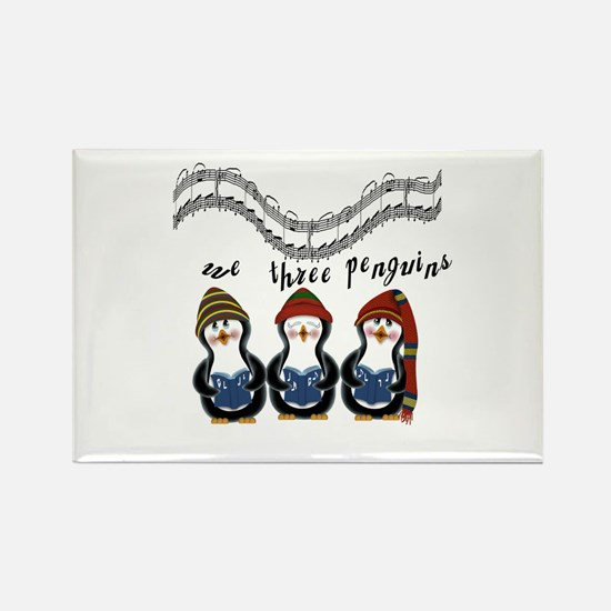 We Three Penguins Rectangle Magnet