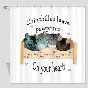 Chinpawprints Shower Curtain