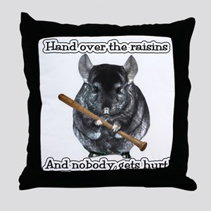 ChinRaisonsdark1 Throw Pillow