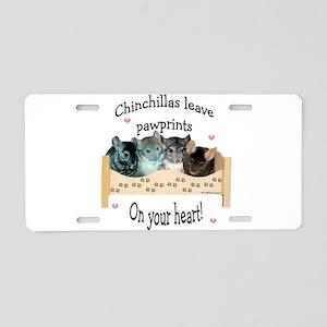 Chinpawprints Aluminum License Plate