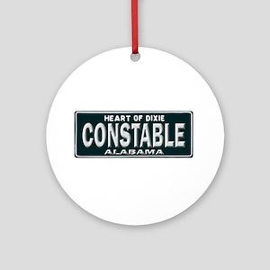 Alabama Constable Ornament (Round)