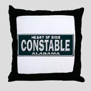 Alabama Constable Throw Pillow