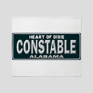 Alabama Constable Throw Blanket