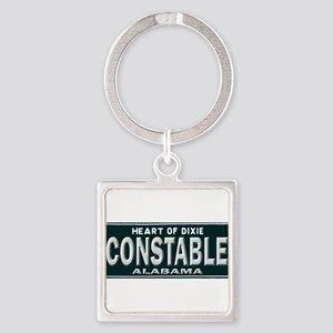 Alabama Constable Square Keychain