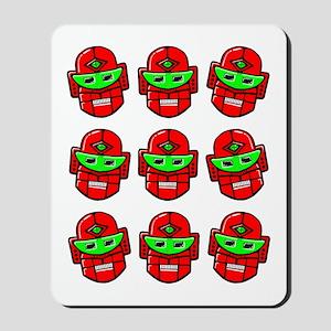 Retro Robot Heads Mousepad