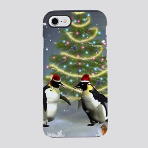 Funny penguin with christmas tree iPhone 7 Tough C