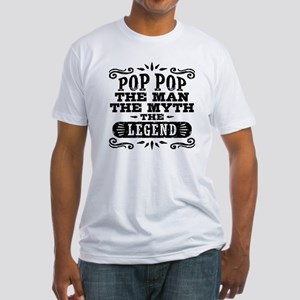 Funny Pop Pop Fitted T-Shirt
