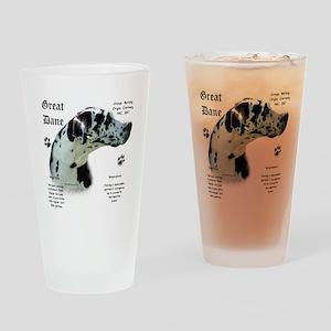 DaneHistoryHarlequinnatural Drinking Glass