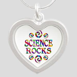 Science Rocks Silver Heart Necklace