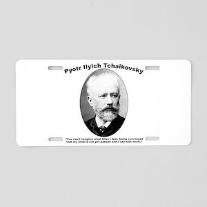 Tchaikovsky: Work Aluminum License Plate