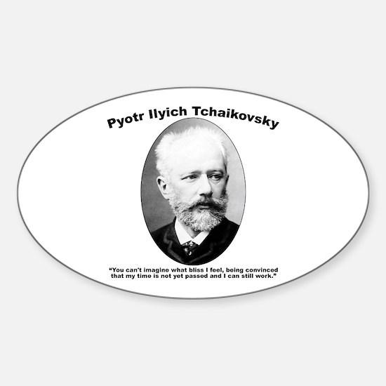 Tchaikovsky: Work Sticker (Oval)