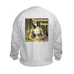 Tigerman Kids Sweatshirt, Logo-Front, Art-Back