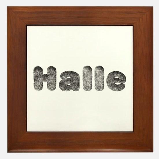 Halle Wolf Framed Tile