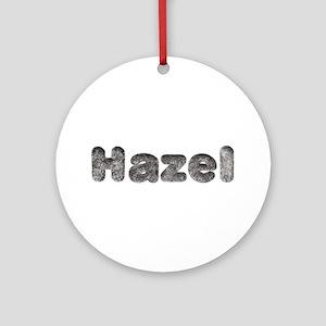 Hazel Wolf Round Ornament