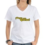 Vaya Con Queso Women's V-Neck T-Shirt