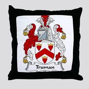 Truman Family Crest Throw Pillow