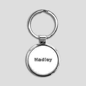 Hadley Wolf Round Keychain