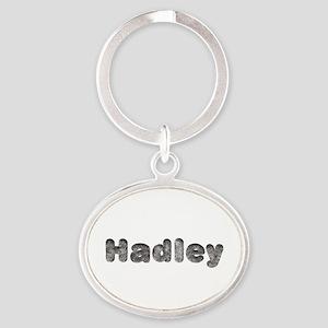 Hadley Wolf Oval Keychain