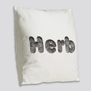 Herb Wolf Burlap Throw Pillow