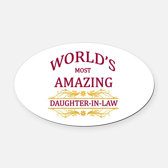 Daughter-In-Law Oval Car Magnet