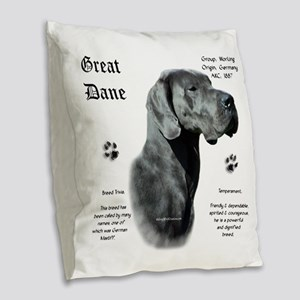 DaneHistoryBluenatural Burlap Throw Pillow