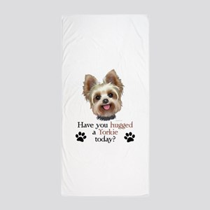 Yorkie Hug Beach Towel