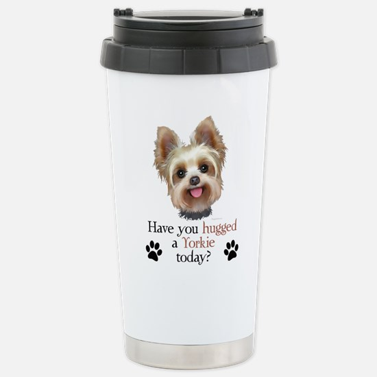 Yorkie Hug Stainless Steel Travel Mug