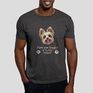 Yorkie Hug Dark T-Shirt
