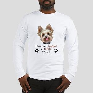 Yorkie Hug Long Sleeve T-Shirt