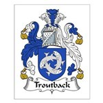 Troutback Family Crest Small Poster