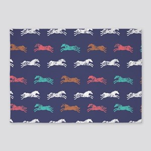 Colorful Classic Galloping Horse Pattern 5'x7'Area