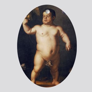 Portrait of the Dwarf Morgante by Br Oval Ornament
