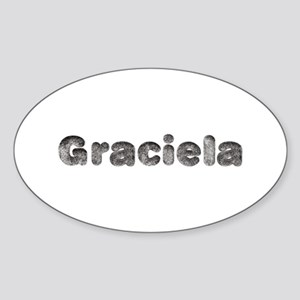 Graciela Wolf Oval Sticker