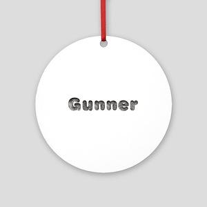 Gunner Wolf Round Ornament