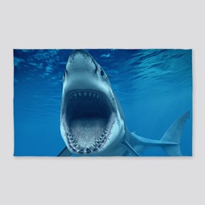 Big White Shark Jaws Area Rug