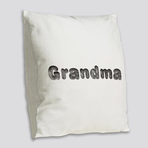 Grandma Wolf Burlap Throw Pillow