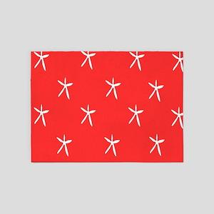 Starfish on Coral 5'x7'Area Rug