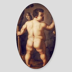 Portrait of the Dwarf Morgante from Sticker (Oval)