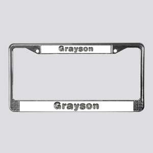 Grayson Wolf License Plate Frame
