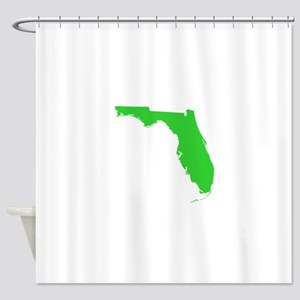 florida state silhouette Shower Curtain