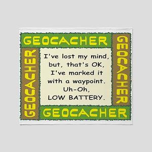 Green Geocacher Lost Mind Throw Blanket