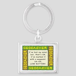 Green Geocacher Lost Mind Keychains