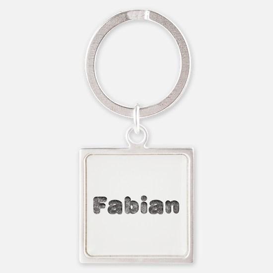 Fabian Wolf Square Keychain