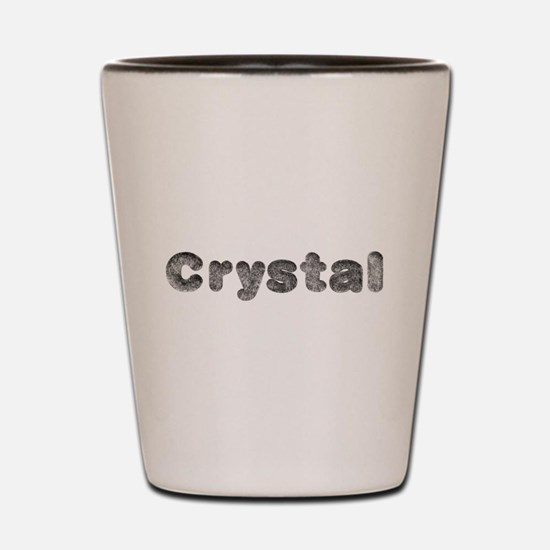 Crystal Wolf Shot Glass